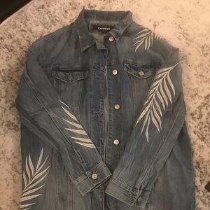 Express Women's Jean Jacket w/ silver detail, M/L